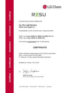 01 18 2019 Ing. Pier Luigi Pignataro Certificato di installatore scaled